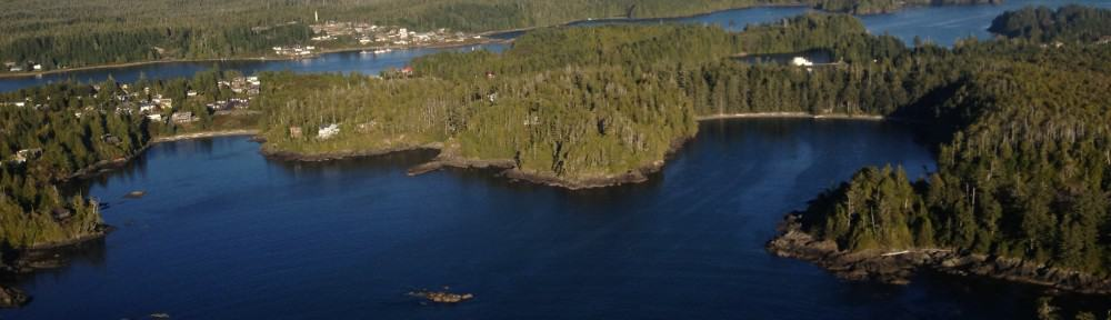 Ucluelet Resort from the Air